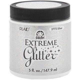 Folk Art Extreme 5-oz Silver Glitter Paint