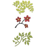 Sizzix Sizzlits Die Set 3/Pkg - Flowers, Branches and Leaves