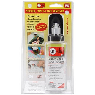 Un-Du Four-ounce Low-VOC Acid-free Adhesive Remover with Scraper
