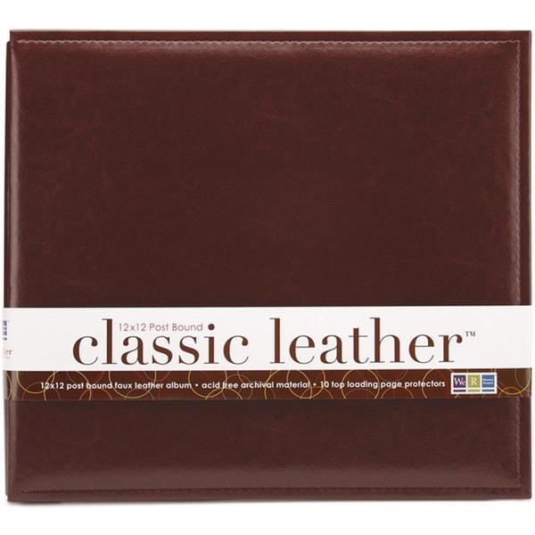 We R Classic 12x12 Cinnamon Leather Postbound Album