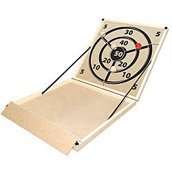 Portable Indoor-outdoor Screen-printed Wood-and-metal Hi-bol Game