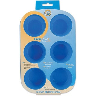 Wilton Stain- and Odor-resistant Easy-flex 6-cup Silicone Muffin Pan