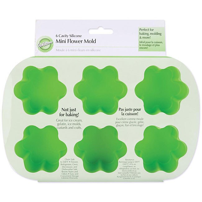 Wilton Silicone 6-cavity Flower Mini Mold (Mini Silicone ...