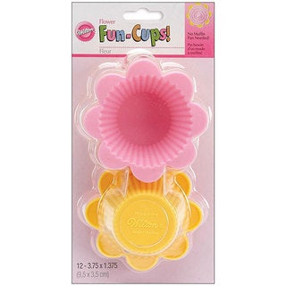 Wilton Silicone Flower Fun-cups Baking Cups (Pack of 12)