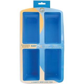 Wilton Odor-resistant Easy-flex Silicone 4-cavity Mini Loaf Pan