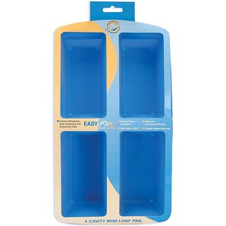 Wilton Odor-resistant Easy-flex Silicone 4-cavity Mini Loaf Pan