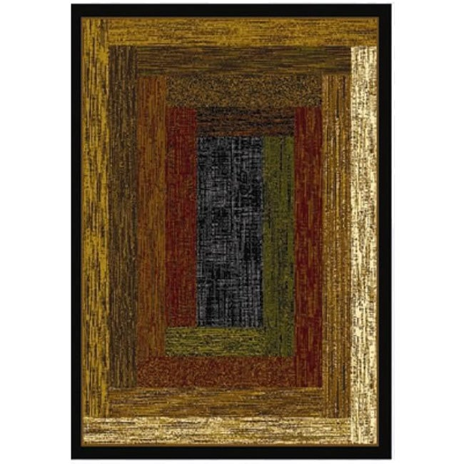 Home Dynamix Royalty Collection Traditional Black Area Rug  (7'8X10'4)