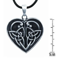 Pewter Eternal Love Celtic Heart Necklace - Thumbnail 1