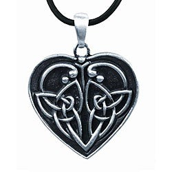 Pewter Eternal Love Celtic Heart Necklace