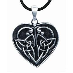 Pewter Eternal Love Celtic Heart Necklace