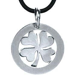 Stainless Steel Shamrock Necklace