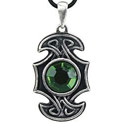 Pewter Green Cubic Zirconia Celtic Axe Necklace|https://ak1.ostkcdn.com/images/products/4285160/Pewter-Green-Cubic-Zirconia-Celtic-Axe-Necklace-P12266809.jpg?impolicy=medium