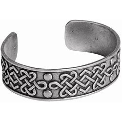 Pewter Celtic Lovers' Knot Bangle Bracelet