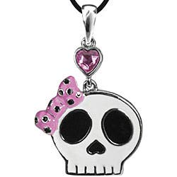 Pewter Pink Cubic Zirconia Pretty Skull Necklace|https://ak1.ostkcdn.com/images/products/4285190/Pewter-Pink-Cubic-Zirconia-Pretty-Skull-Necklace-P12266813.jpg?impolicy=medium
