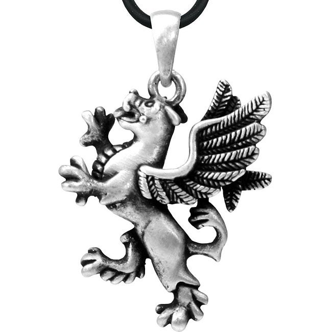 Pewter Griffin Necklace