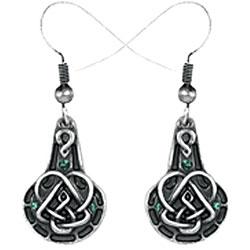 Pewter Celtic Pendulum Earrings