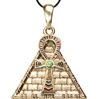 Pewter Cubic Zirconia Ankh Pyramid Necklace|https://ak1.ostkcdn.com/images/products/4285205/P12266846.jpg?impolicy=medium