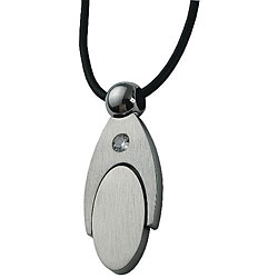 Stainless Steel Oval Design Necklace