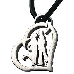 Stainless Steel Heart Couple Necklace
