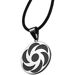 Stainless Steel Spiral Design Necklace