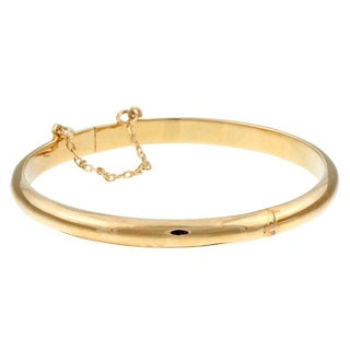 14K Gold over Sterling Silver Child's Polished Bangle
