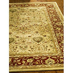 Safavieh Handmade Mahal Ivory/ Rust New Zealand Wool Rug (9'6 x 13'6) - Thumbnail 1