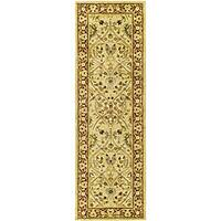 Safavieh Handmade Mahal Ivory/ Rust New Zealand Wool Runner (2'6 x 10')