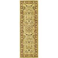 Safavieh Handmade Mahal Ivory/ Rust New Zealand Wool Runner Rug