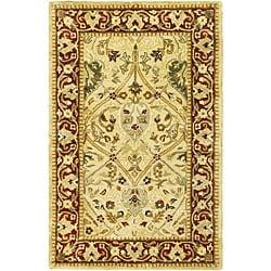 Safavieh Handmade Mahal Ivory/ Rust New Zealand Wool Runner (2'6 x 4')