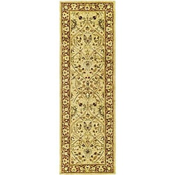 Safavieh Handmade Mahal Ivory/ Rust New Zealand Wool Runner (2'6 x 8') - Thumbnail 0