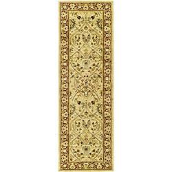 Safavieh Handmade Mahal Ivory/ Rust New Zealand Wool Runner (2'6 x 8')