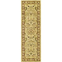 Safavieh Handmade Mahal Ivory/ Rust New Zealand Wool Runner (2'6 x 8')