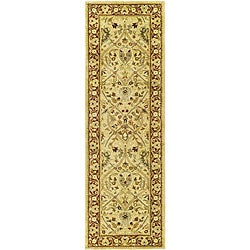 Safavieh Handmade Mahal Ivory/ Rust New Zealand Wool Runner (2'6 x 14')