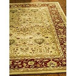 Safavieh Handmade Mahal Ivory/ Rust New Zealand Wool Rug (8'3 x 11')