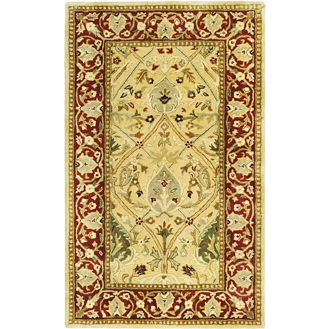 Safavieh Handmade Mahal Ivory/ Rust New Zealand Wool Rug - 4' x 6'