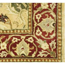 Safavieh Handmade Mahal Ivory/ Rust New Zealand Wool Rug (4' x 6') - Thumbnail 1