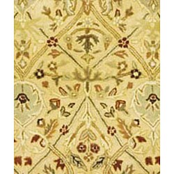 Safavieh Handmade Mahal Ivory/ Rust New Zealand Wool Rug (4' x 6') - Thumbnail 2