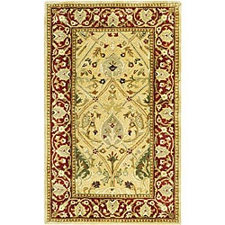 Safavieh Handmade Mahal Ivory/ Rust New Zealand Wool Rug - 4' x 6' - Thumbnail 0