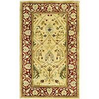 Safavieh Handmade Mahal Ivory/ Rust New Zealand Wool Rug - 4' x 6'