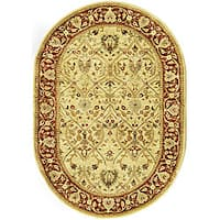 Safavieh Handmade Mahal Ivory/ Rust New Zealand Wool Rug (4'6 x 6'6 Oval)