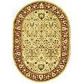 Safavieh Handmade Mahal Ivory/ Rust New Zealand Wool Rug (4'6 x 6'6 Oval) - 4'6' x 6'6 oval