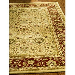 Safavieh Handmade Mahal Ivory/ Rust New Zealand Wool Rug (6' x 9') - Thumbnail 1