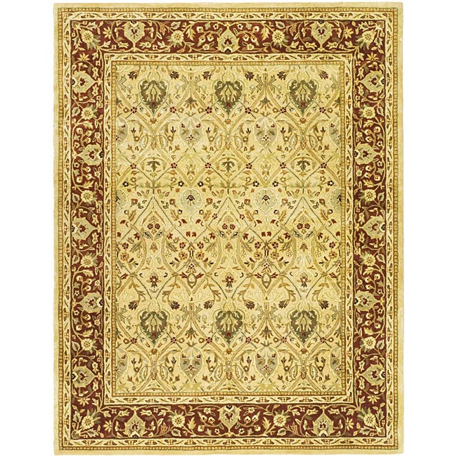 "Safavieh Handmade Mahal Ivory/ Rust New Zealand Wool Rug - 7'6"" x 9'6"""