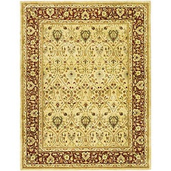 Safavieh Handmade Mahal Ivory/ Rust New Zealand Wool Rug - 7'6 x 9'6 - Thumbnail 0