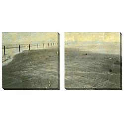 Gallery Direct Sara Abbott 'Beach Series I and II' 2-piece Canvas Art Set
