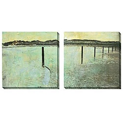 Gallery Direct Sara Abbott 'Beach Series III and IV' Oversized Canvas Art Set
