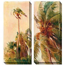 Gallery Direct Allyson Krowitz 'Beach Palm' Oversized Canvas Art Set
