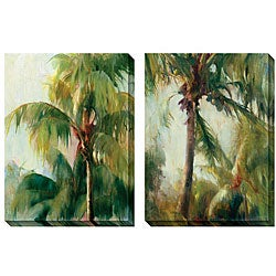 Gallery Direct Allyson Krowitz 'Quiet Palm' Oversized Canvas Art Set