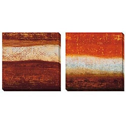 Gallery Direct Benjamin Arnot 'Red Strata' Oversized Canvas Art Set