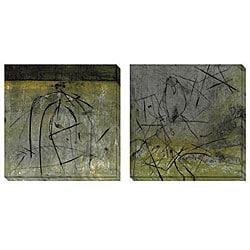 Gallery Direct Caroline Ashton 'Bird & Cage' Oversized Canvas Art Set